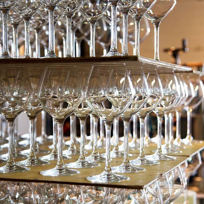 Glas bedrukt