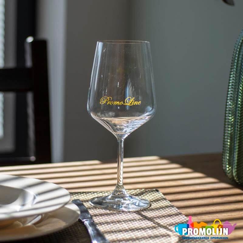 Bedrukt wijnglas