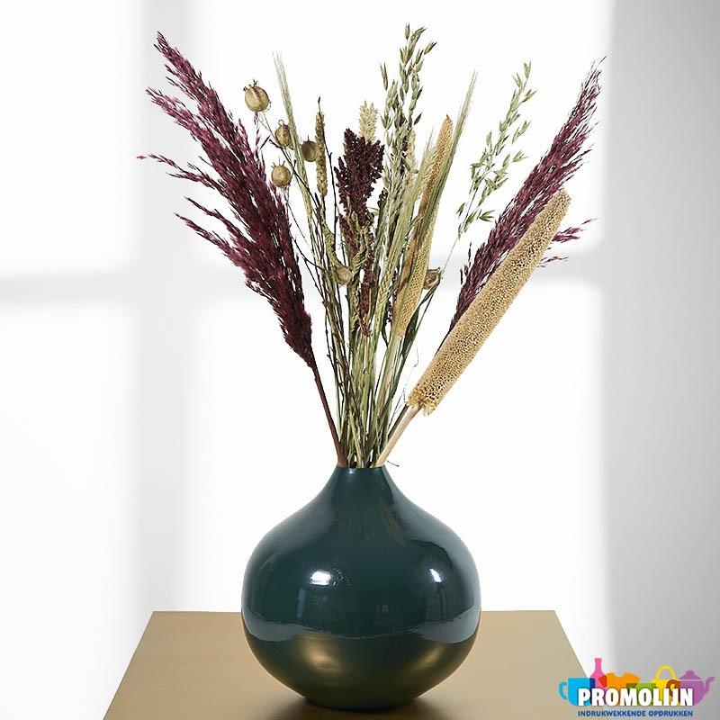 Vaas Metaal Groen droogbloemen bloeiwijzen